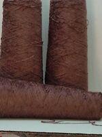 Black Cherry Rayon 2000 Ypp Chenille Yarn 3 Cones 4.25 Lbs