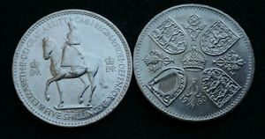 Crown-5-25-Pence-1951-to-1960-Extra-Fine-or-Good-Extra-Fine