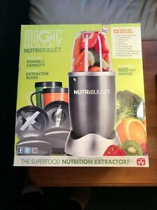 NEW-Magic-Bullet-NutriBullet-NBR-0801-600-Watt-Blender-12-Piece-Set-FREE-SHIP