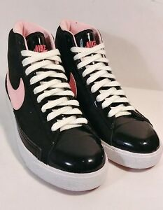 official photos 1a9be 671d1 Details about NIKE [325064-062] Blazer Mid Black/Pink/White❤Valentines❤  Women's Size 7 *EUC*