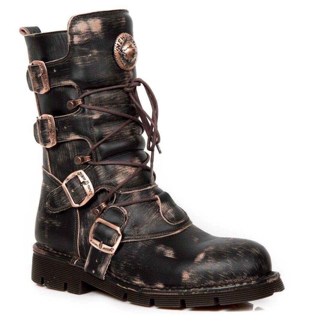 NEWROCK NR M.1473 S48 Brun Antique botas - New Rock botas - Unisexe