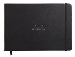 Rhodia Webnotebook - Landscape - Black - Lined - 96 Sheets - 5.5 x 8.25 - 118249