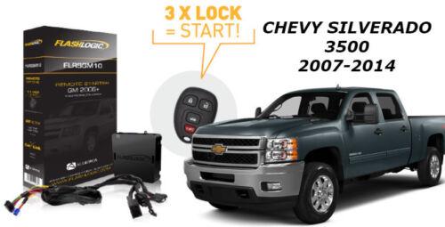 Flashlogic Remote Start for 2011 Chevy Silverado 3500 V8 w//Plug /& Play Harness