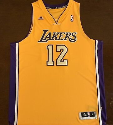 purchase cheap 2af6e 9a963 Rare Adidas NBA Los Angeles LA Lakers Shannon Brown Basketball Jersey | eBay