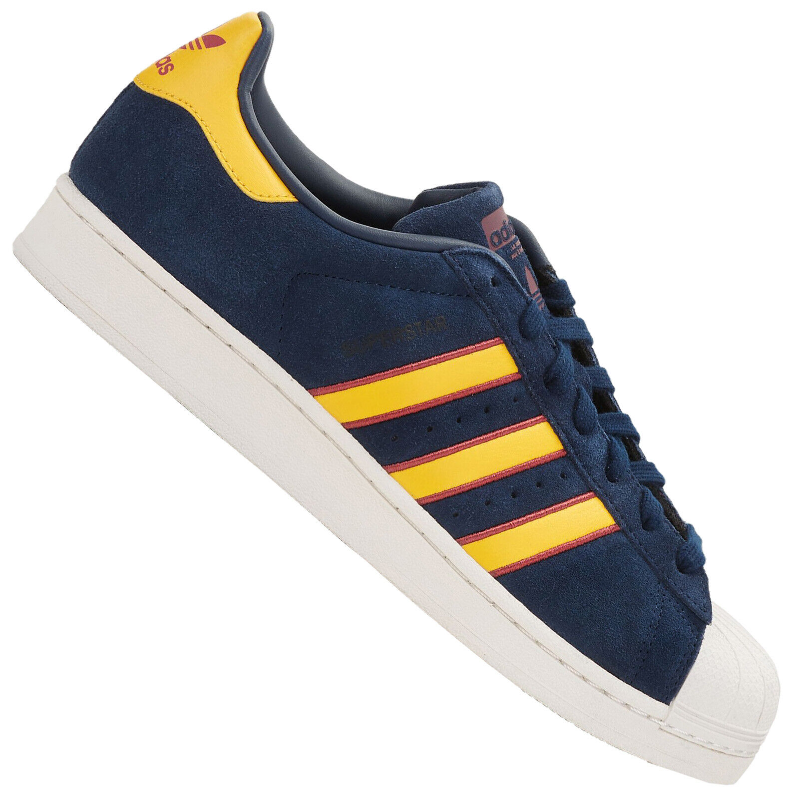 Adidas Superstar shoes Retro Sneaker Casual Trainers Navy Yellow Red Cm8080