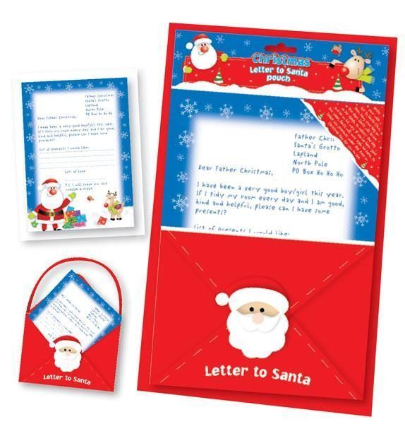 Letter To Santa Pouch – Stationary Craft Presents Gift - CHRISTMAS PARTY NEW