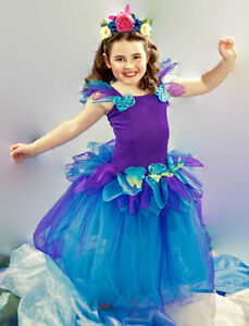 Image Is Loading New Girls Kids Fairy Dress Costume Cosplay Frozen