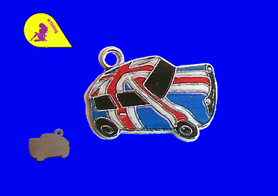 5 Mini Car 26 x 18 mm Union Jack Enamel A757    P & P £1 per delivery.