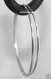86106d764 Classic 14K White Gold Endless Hoop Earrings 1