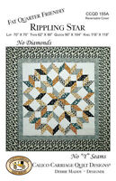 Quilt Pattern Rippling Star By Calico Carriage Quilt Designs