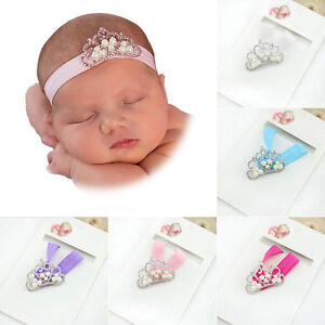 Girl-Baby-Newborn-Infant-Princess-Pearl-Crown-Headband-Hair-Bow-Band-Photo-Props