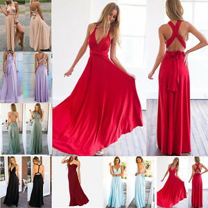 Womens-Evening-Party-Long-Cocktail-Dresses-Formal-Prom-Lace-Maxi-Multi-Way-Dress