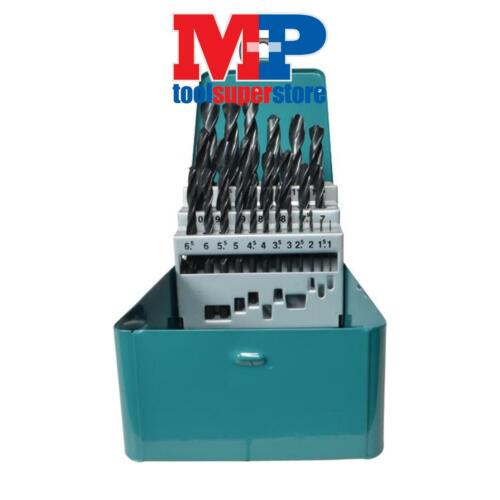MAKITA D-54097 25 PIECE HSS-R METAL DRILL BIT SET IN STORAGE TIN