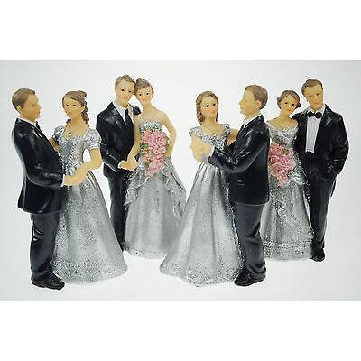 Silberpaar Tortenaufsatz, Silberne Hochzeit, Jubiläum, Silberhochzeit