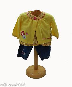 Conjunto-de-pantalon-vaquero-camiseta-tirantes-chaqueta-algodon-100-amarillo
