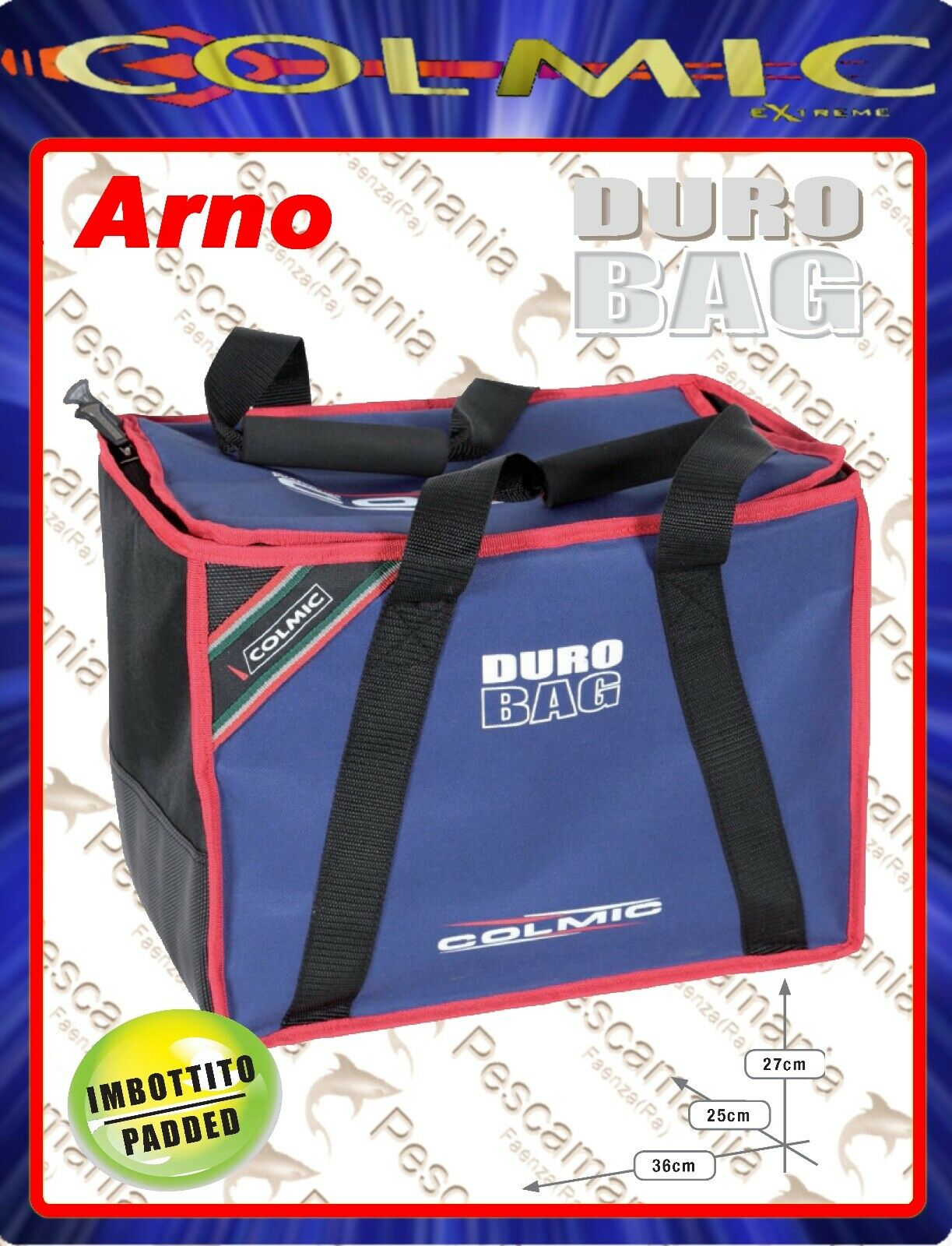 Bag Colmic Arno Duro red series rigida cm36x25 H27