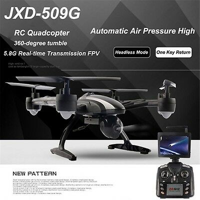 JXD 509G RC Drones with HD Camera LCD Monitor 5.8G FPV Altitude Hold Quadcopter