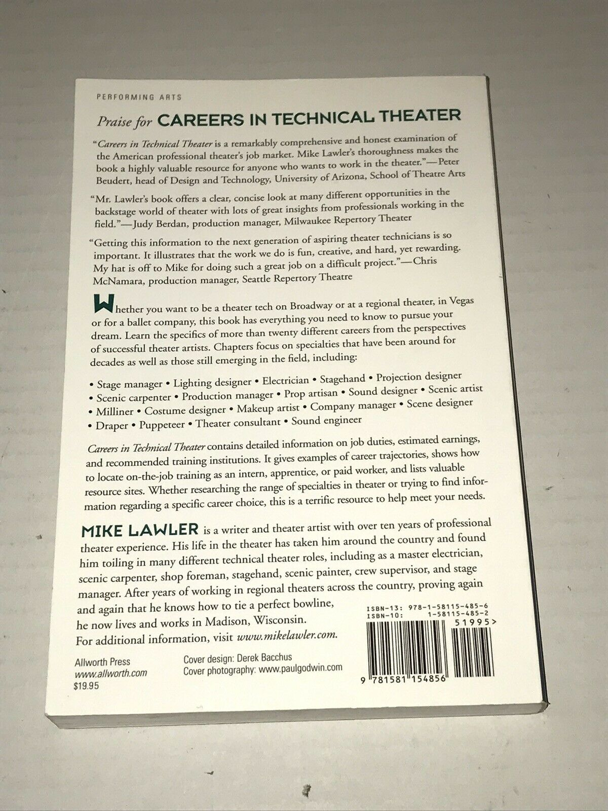 Careers in Technical Theater by Mike Lawler (2007, Paperback)
