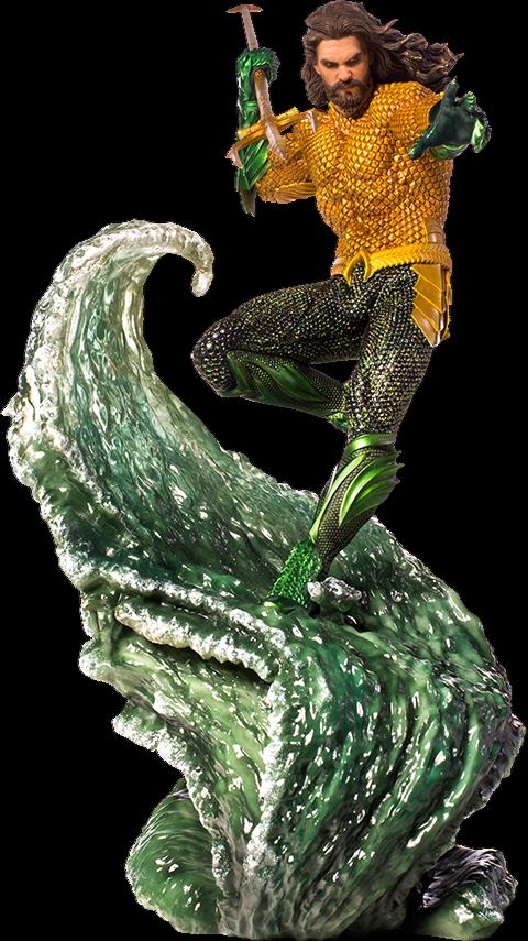 DC Aquaman Statue Jason Momoa Aquaman 1 10 Battle Iron Studios Sideshow RARE