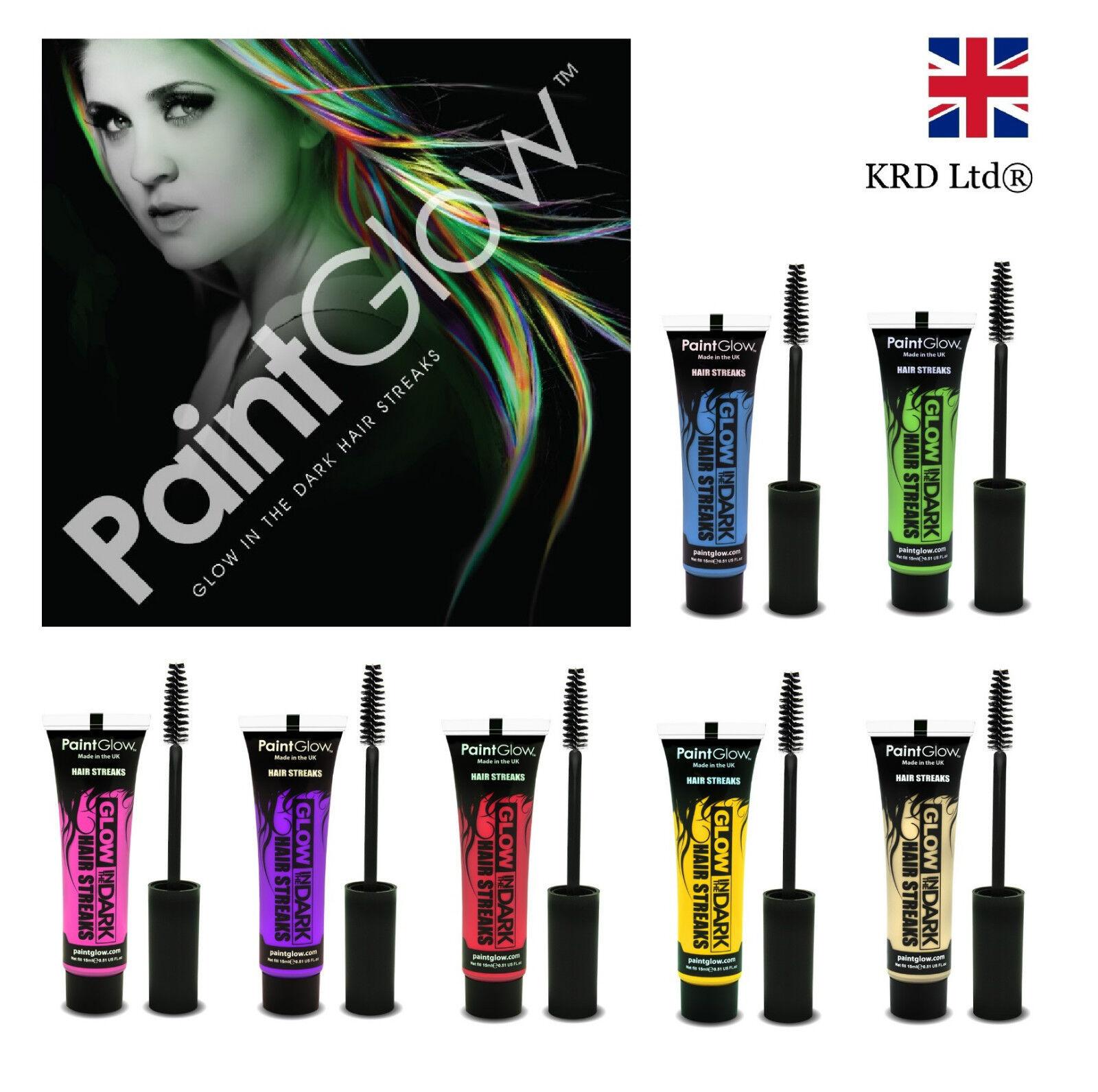 glow in the dark hair streaks temporary dye gel paint rave uk ebay. Black Bedroom Furniture Sets. Home Design Ideas