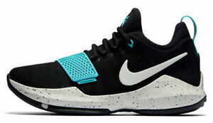 1290956bed6 Nike PG 1 Paul George Mens 10.5 11 11.5 Black Light Aqua White Grey ...