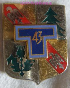 IN17382-INSIGNE-43-Regiment-de-Transmissions-dos-grenu-argente