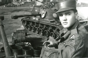 Elvis Presley poses for Camera While in Military in Germany 8x12 Photo
