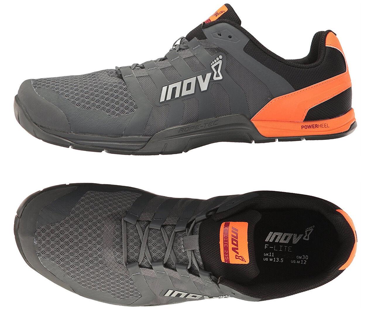 Inov-8 F-Lite 235 V2 Mens Cross Training shoes Grey Grey Grey orange 000599 NEW 5dbe70