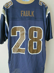 best loved 0104b 42ba1 Details about # 28 MARSHALL FAULK RAMS JERSEY St. Louis NFL Adidas XL