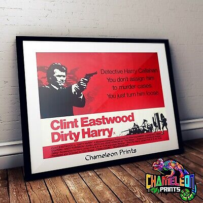 DIRTY HARRY CLINT EASTWOOD MOVIE POSTER FILM A4 A3 ART PRINT CINEMA