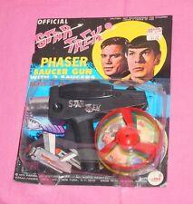 vintage 1975 AHI STAR TREK PHASER SAUCER GUN MOC MIP (dented blister)