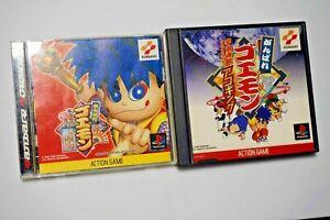 PlayStation-1-Ganbare-Goemon-Kurunara-koi-Akoging-Japan-PS1-2-games-US-Seller