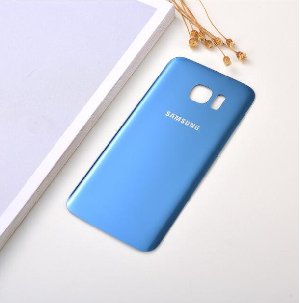 Vitre Arriere Samsung Galaxy S 7 Edge - Bleu