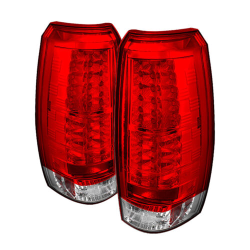 Chevy 07-13 Avalanche Red Clear LED Rear Tail Light Set Brake Lamp LS LT LTZ