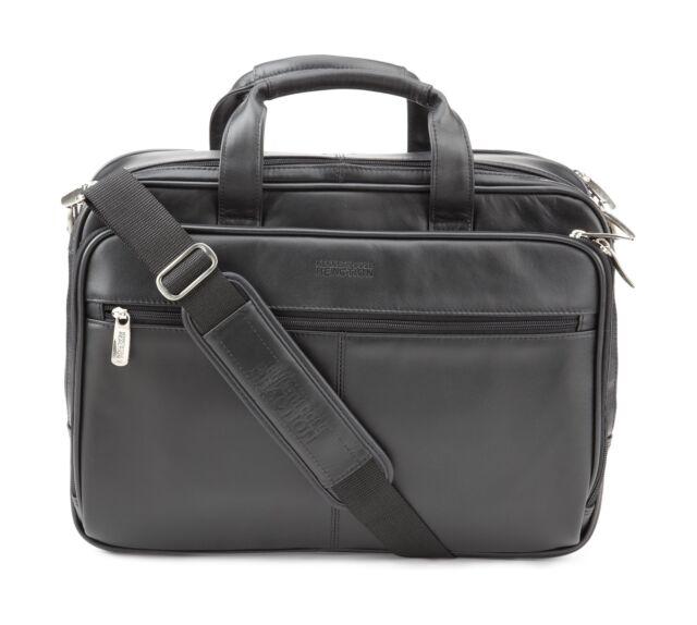 93e75d89753c Kenneth Cole Reaction Leather Briefcase Messenger Bag Laptop Case