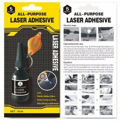 All Purpose Laser 5 Second Rapid Fix Adhesive UV Light Repair Cure Tool Glue 15m