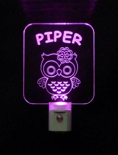 Animal Nursery Kids Owl LED Night Light- Personalized Bird