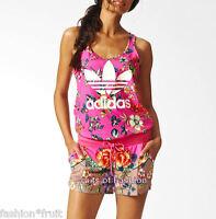 Adidas Originals FARM Jardineto All-in-One Floral Suit Summer Short Jumpsuit
