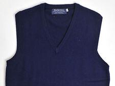 Burberrys Mens Sweater Vest 100% Cashmere Made In Scotland Blue 40 Medium