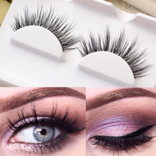 1Pair Mink Perfect Handmade False Eyelash Long Hair Trail Fake Eye Lash #D-19