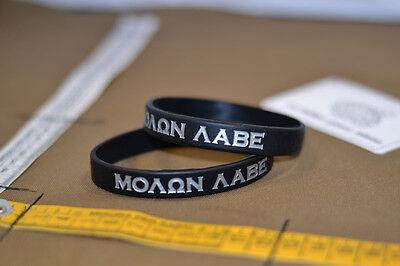 Braccialetto pvc bracelet molon labe spartan warrior usa sf sas sbs pj black