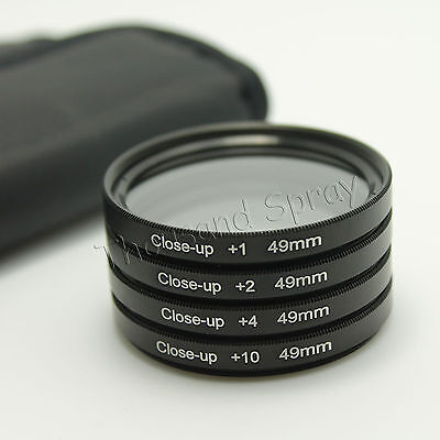 49mm 49 Close up Close-Up Macro +1 +2 +4 +10 Filter Kit for all 49mm lens