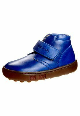 Pom D'Api Walk Desert Leather Boys Shoe Brown, Black & Blue Various sizes