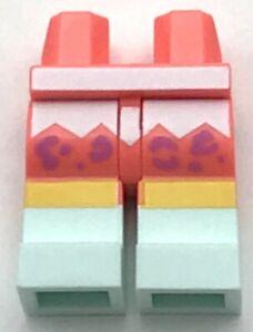 Lego New White Legs Short with Light Flesh Feet Pattern Pants Piece