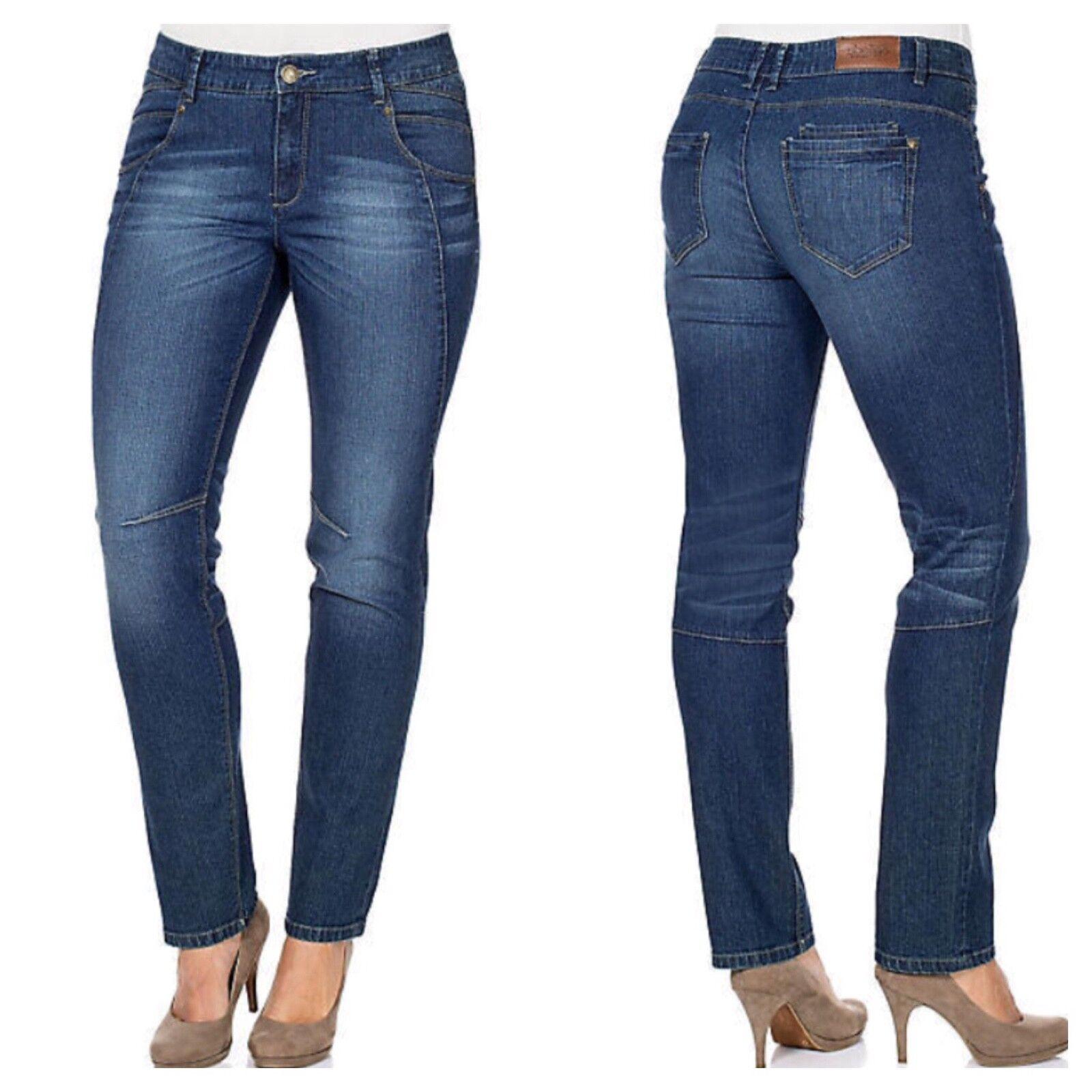 Sheego @ Kaleidoscope Plus Size 30 Straight Leg Kira Dark bluee Denim JEANS