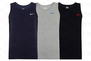 New-Men-039-s-Nike-Logo-Vest-Tank-Top-Sleeveless-T-Shirt-Singlet-Black-Navy-Grey