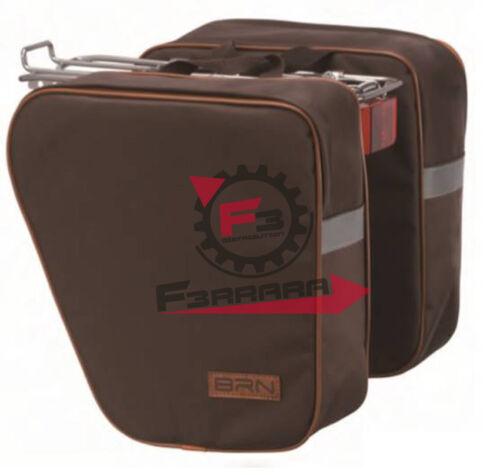 F3-101719 Borse per portapacchi - Separate Marroni per Bici Ciclo cityBike L 35