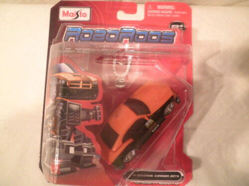 Maisto Robo Rods /'06 Dodge Charger SRT8 Black and Orange Urban Robots New