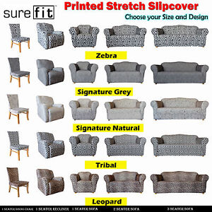 SUREFIT Stretch PRINTED 1 Seater 2 Seater 3 Seater Couch Cover & Recliner & Chai