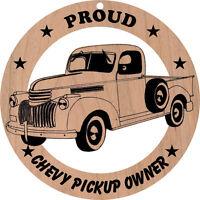 1942 Chevrolet Pickup Wood Ornament Engraved